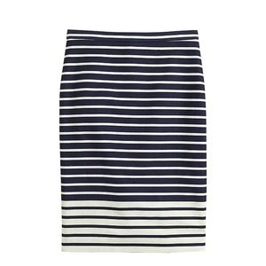 J. Crew No. 2 Pencil Skirt in Colorblock Stripe